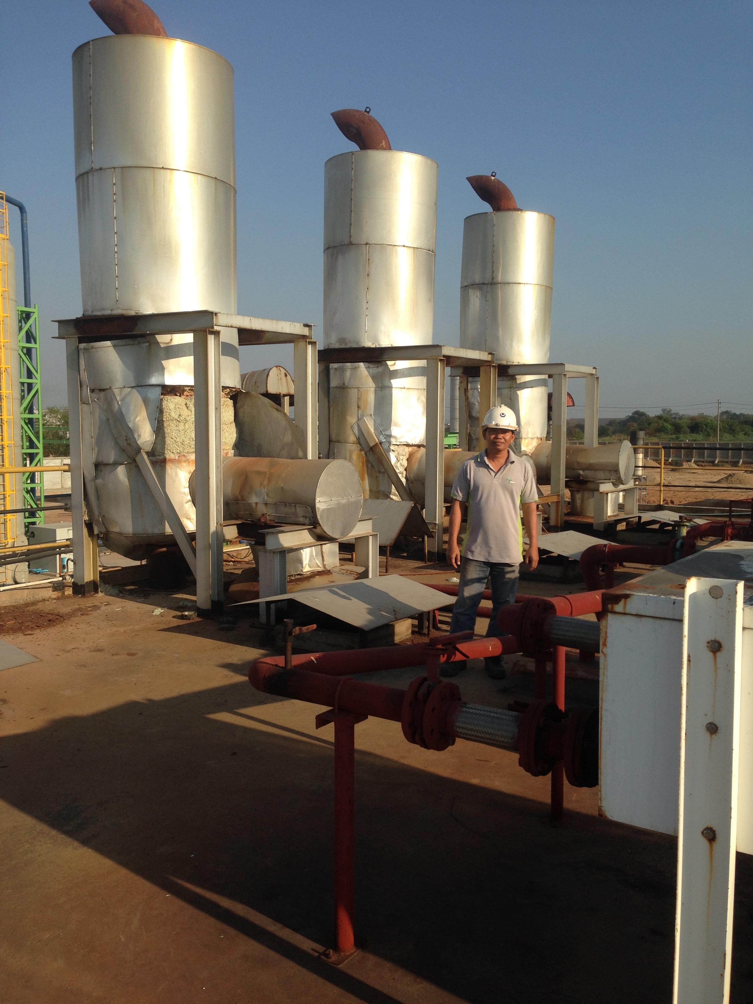 งานรื้นถอนโรงไฟฟ้าไบโอแก๊ส